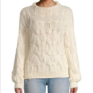 NWT - Joie Minava Cable Knit Mock Neck Sweater